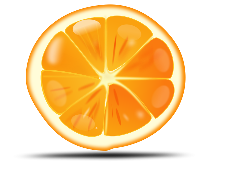 Orange Slice Vector Free Clipart Images