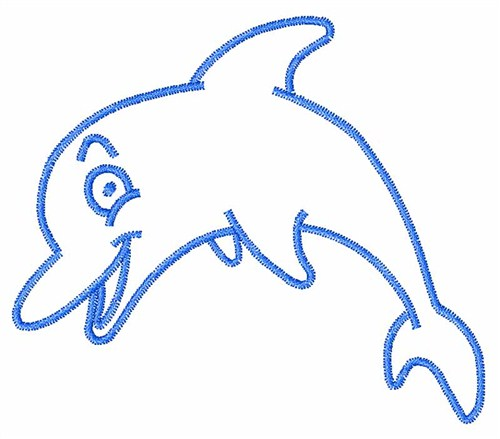 Outline Dolphin Clipart Free Clip Art Images