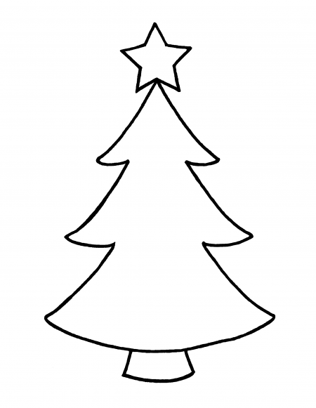 Impeccable image with christmas tree outline printable