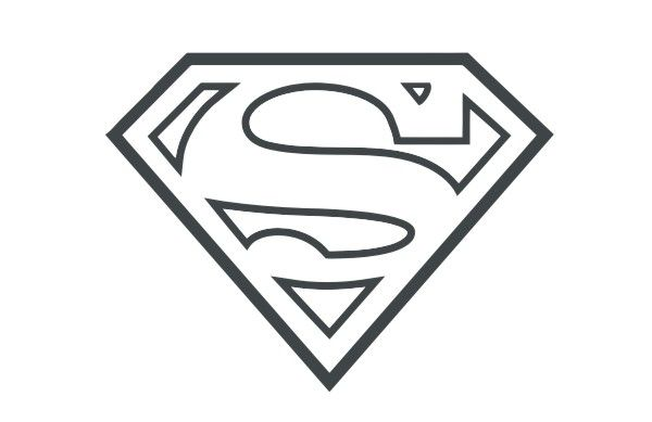 Outline Of Superman Logo