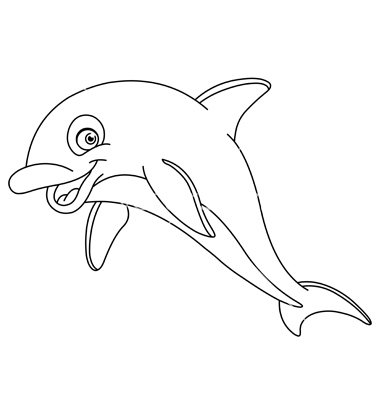 Outlined Dolphin Vectoryayayoy Image Vectorstock