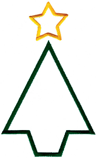 Outlines Embroidery Design Christmas Tree Outline From Grand Slam