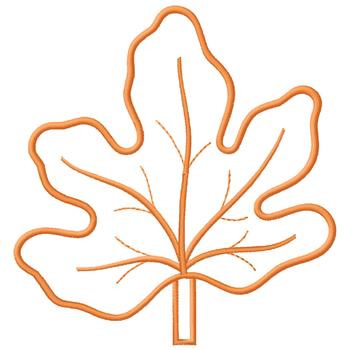 Outlines Embroidery Design Orange Leaf Outline From Gunold