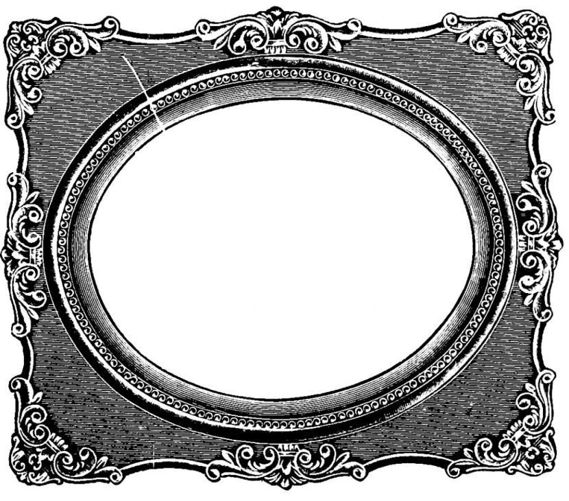 Oval Picture Frame Clip Art Free Clipart Images