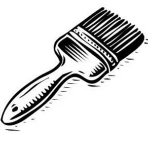 Paint Brush Clip Art Black And White
