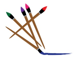 Paint Brushes With Palette Clipart Free Clip Art Images