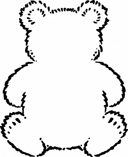 Panda Bear Outline