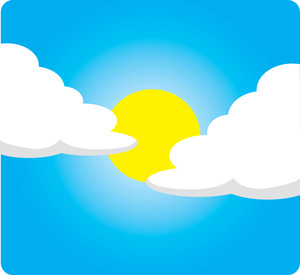 Partly Clouded Clipart Image A Partly Cloudy Weather Icon