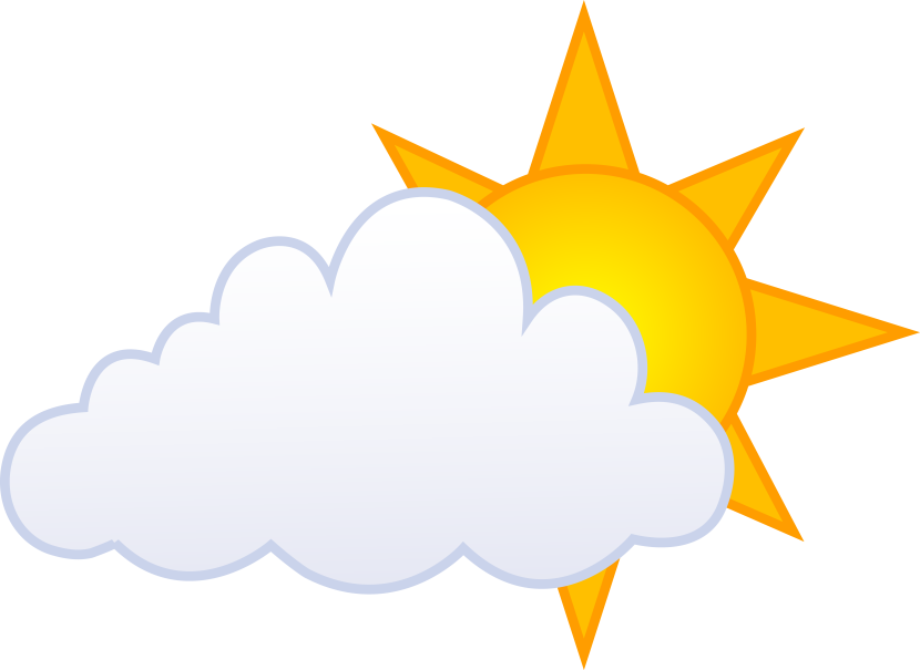 partly cloudy clipart clipartioncom