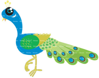 Peacock Clip Art Digital Free Clipart Images