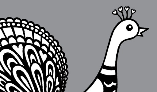Peacock Clipart Black And White Gallery