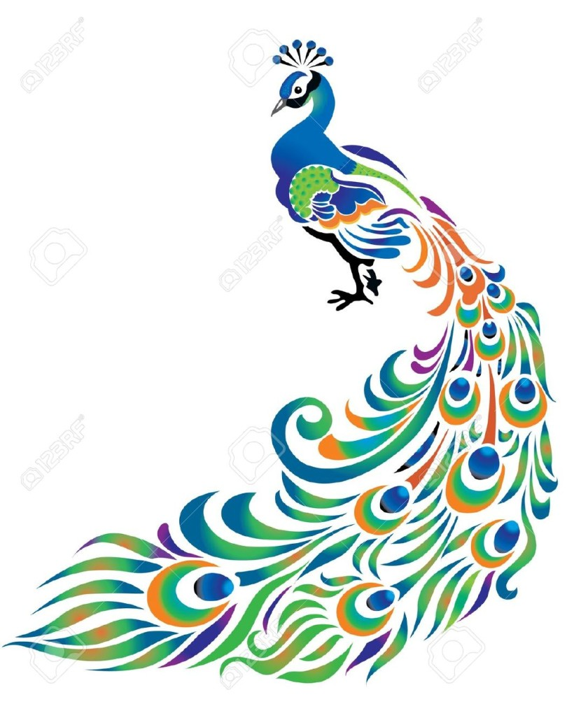 Line Art Icons Free : Peacock clipart clipartion