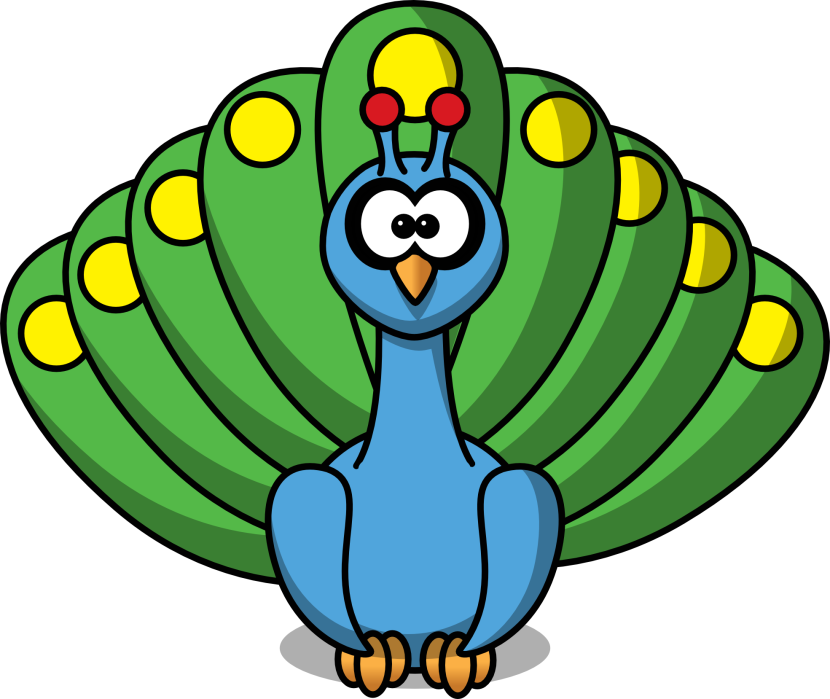 Peacock Feather Border Clipart Free Clipart Images