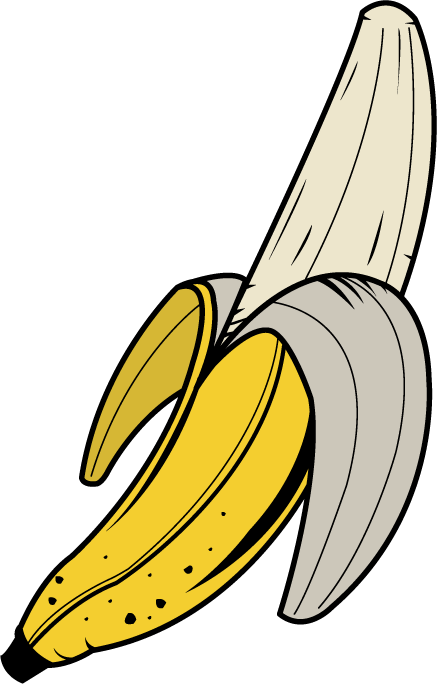 Peeled Banana Clipart Free Clip Art Images