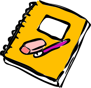 Pencil Eraser And Journal Clip Art At Vector Clip Art