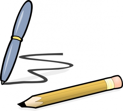 Pencil Writing On Paper Clipart Free Clip Art Images
