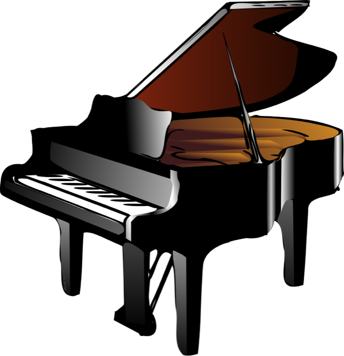 Piano Clipart Black And White Free Clipart Images
