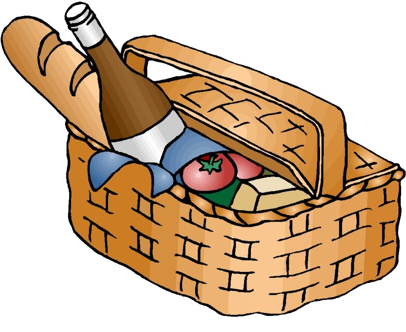 Picnic Basket Clip Art Black And White Free