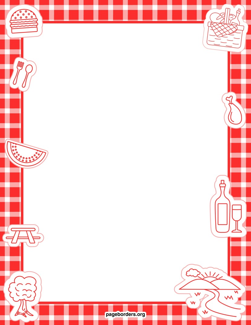 Picnic Page Border Clipart Free Clip Art Images