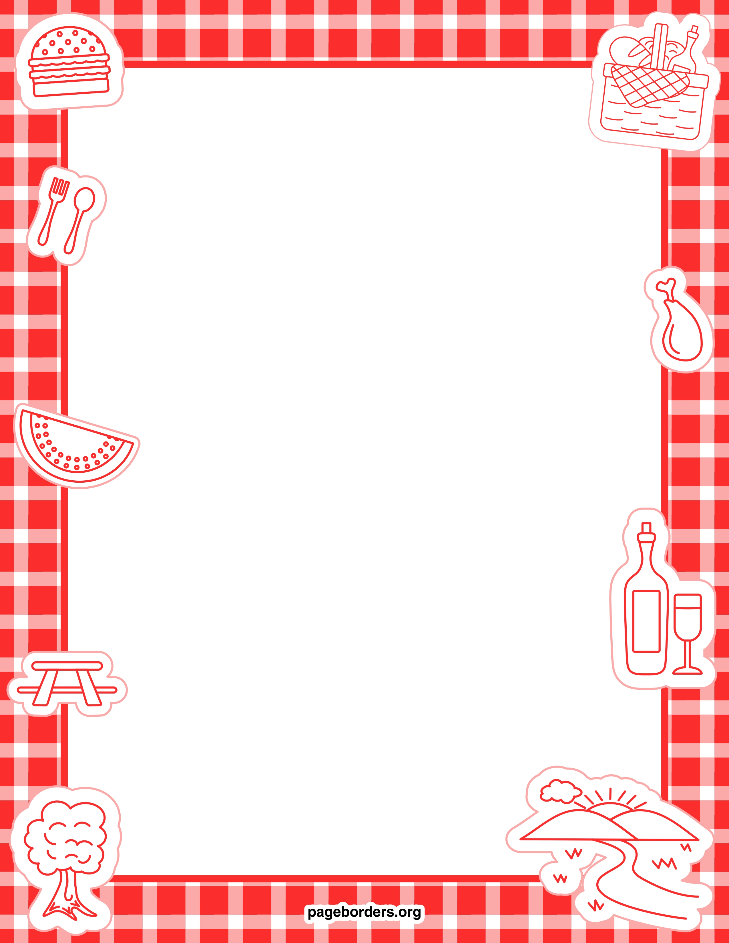 Best Picnic Border Clip Art #20431 - Clipartion.com