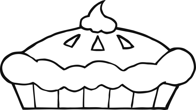 Pie Clip Art Black And White Free Clipart Images