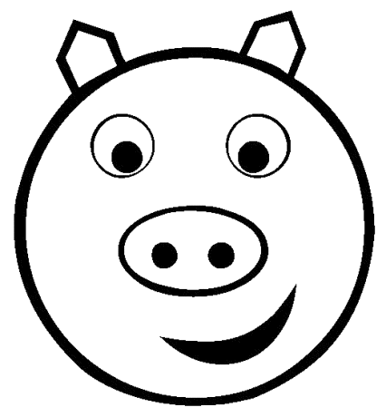 Pig Face Coloring
