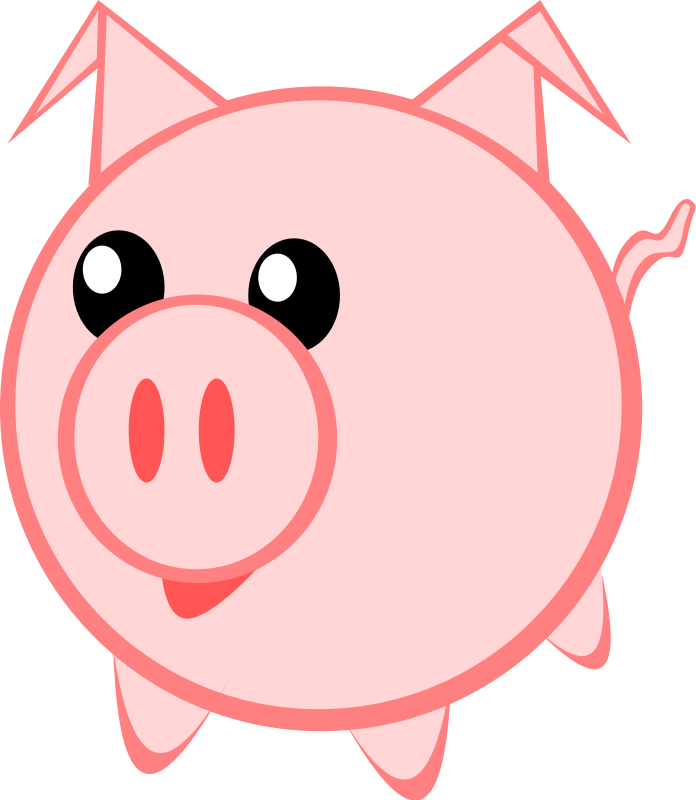 Pig In Mud Clipart Free Clipart Images