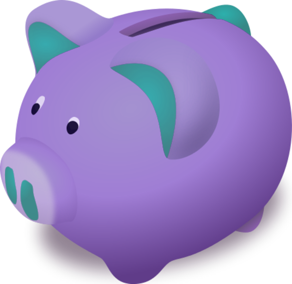 Piggy Bank Vector Clip Art