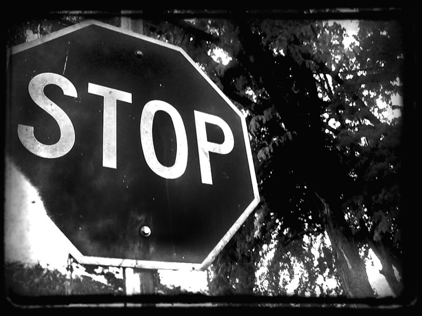 stop sign black and white clipartioncom