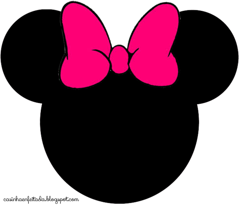 Pink Minnie Mouse Head Clipart Free Clipart