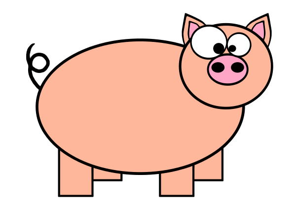 Pink Pig Clipart Free Clipart Images