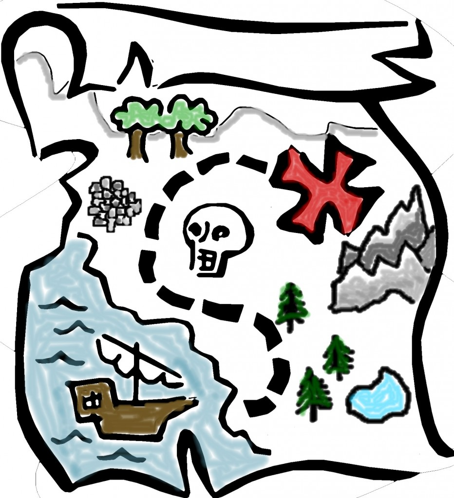 Pirate Treasure Map Clipart Free Clipart Images