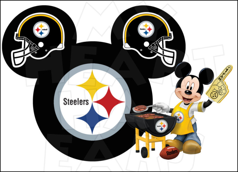 Pittsburgh Steelers Football With Mickey Mouse Instant Download