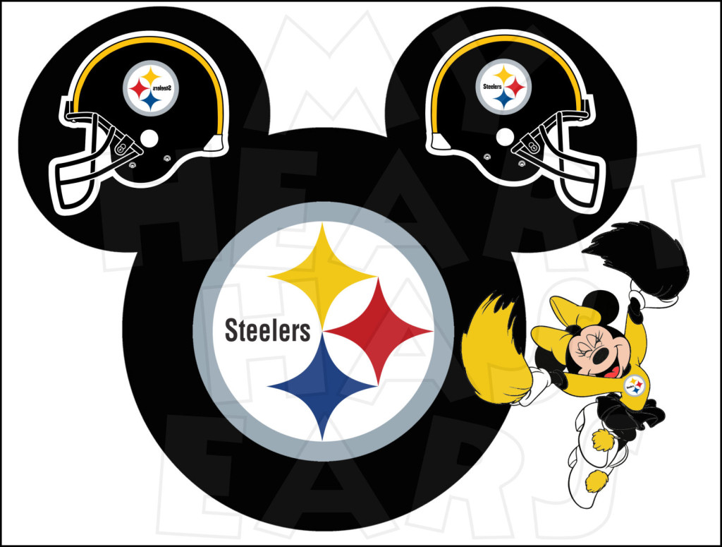 Pittsburgh Steelers Football With Minnie Mouse Instant Download