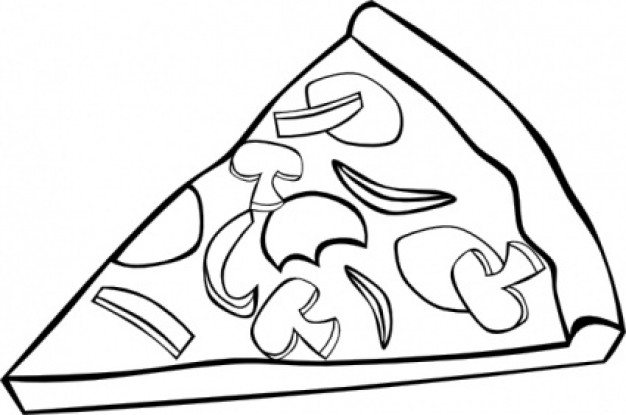 Pizza Clip Art Free Black And White Download