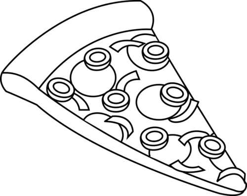 Pizza Clipart Black And White Free Clipart Images