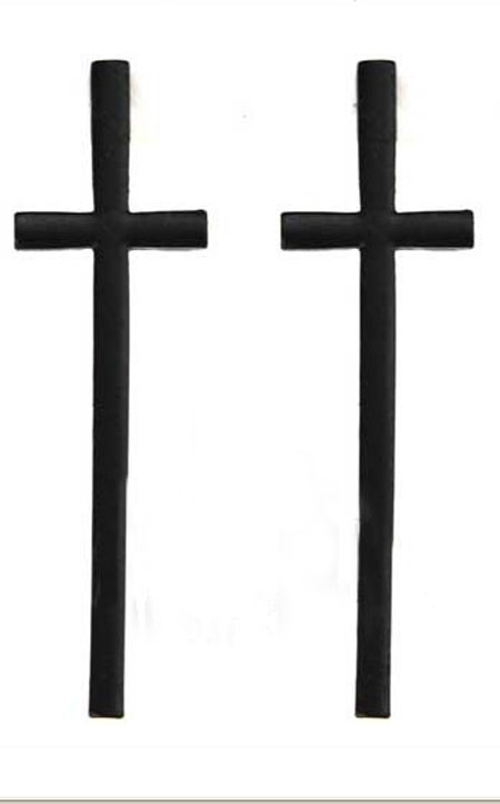 Plain Black Cross