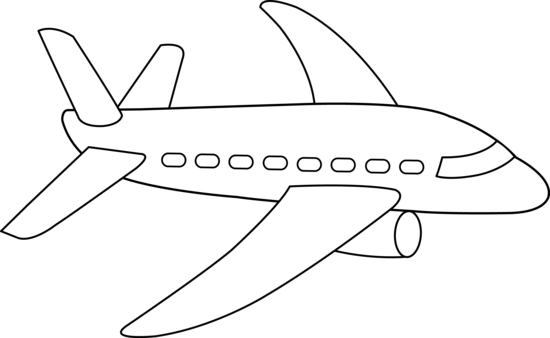 Best Airplane Clipart Black And White #20191 - Clipartion.com