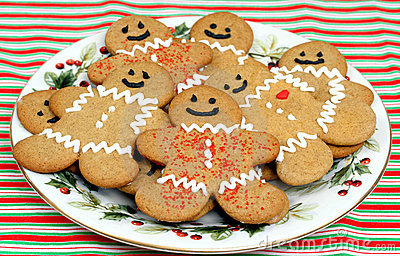 Plate Of Gingerbread Cookies Stock Illustration Image