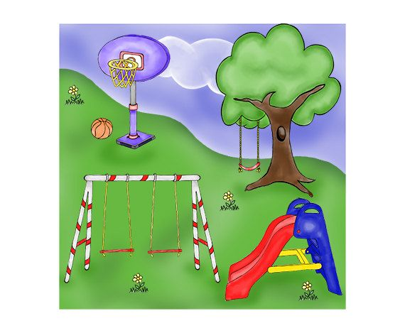 Play Park Digital Clip Art Playground Clipart Digital My