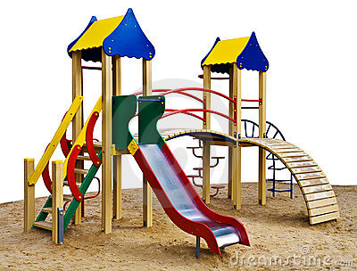 Playground Isolated Stock Photos Image