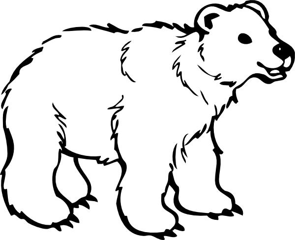 Polar Bear Clip Art Black And White Free Clipart