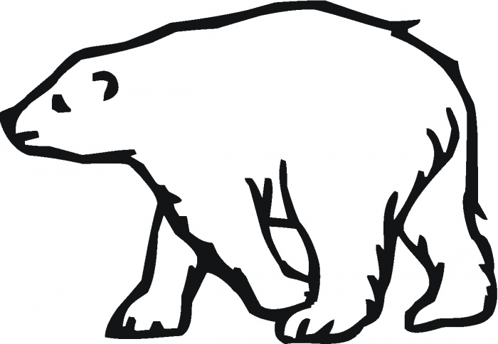 Polar Bear Outline Early Play Templates Polar Bear Color In