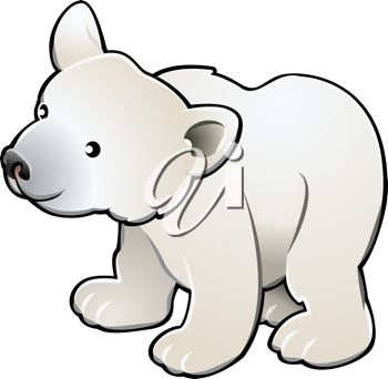 Polar Bear Winter Themed Multiplication Worksheet Clipart Free