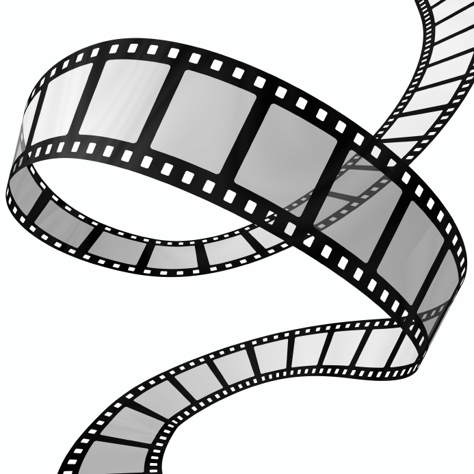 Popcorn And Movie Night Black And White Clipart