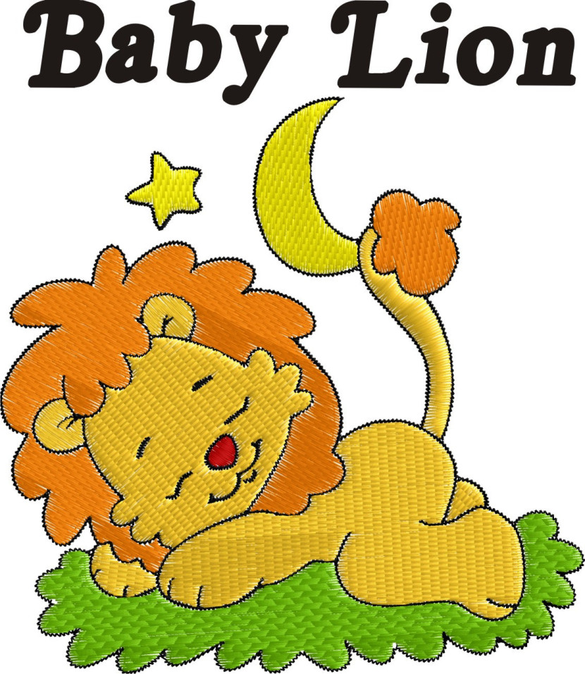 Popular Items For Baby Lion Embroidery On Etsy