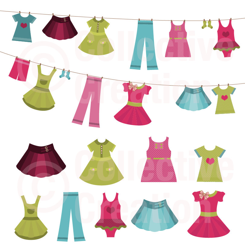 Popular Items For Clothes Clip Art On Etsy
