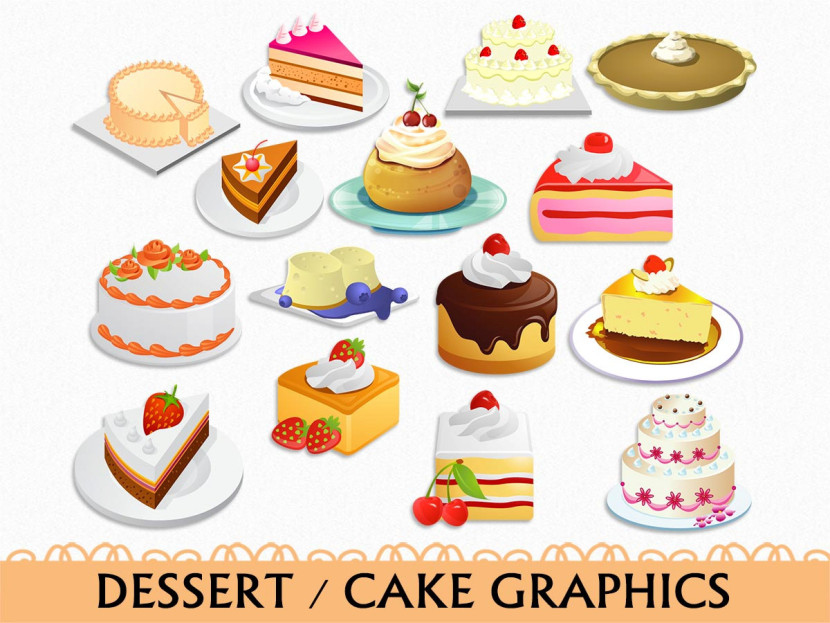 Popular Items For Dessert Clipart On Etsy