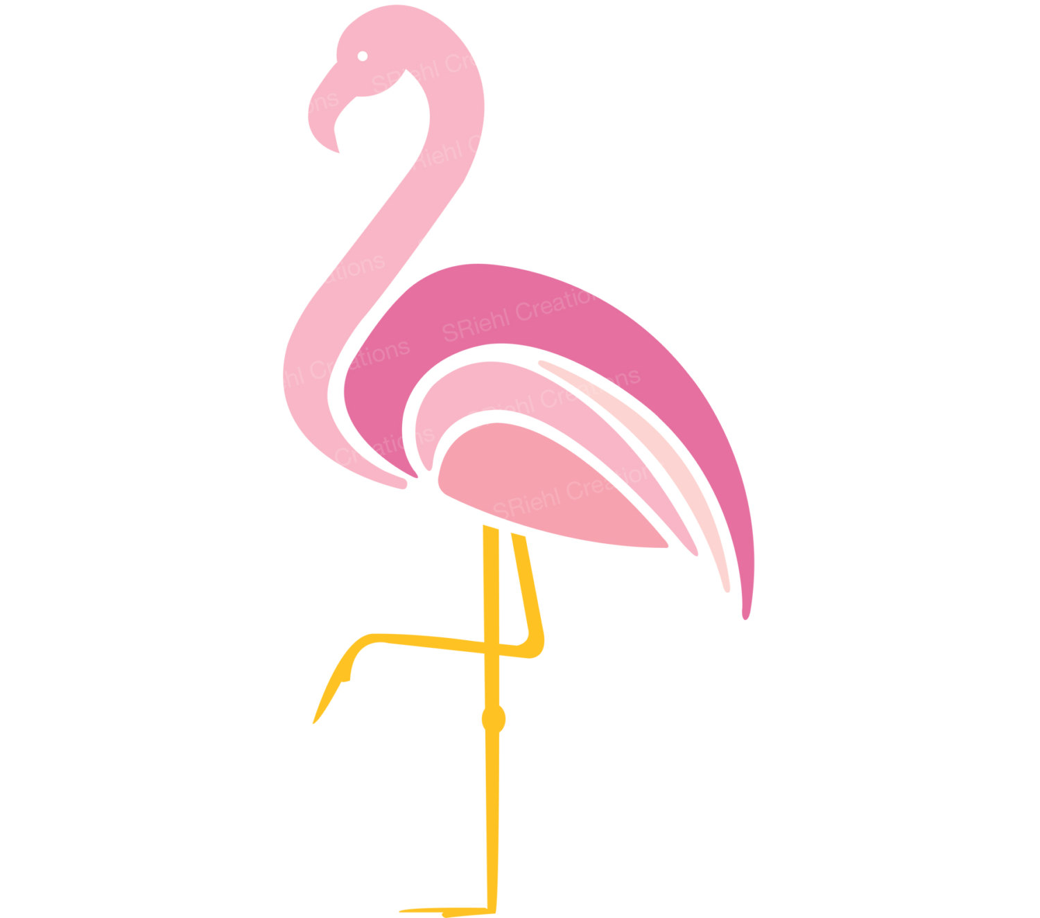 Popular Items For Flamingo Clipart On Etsy