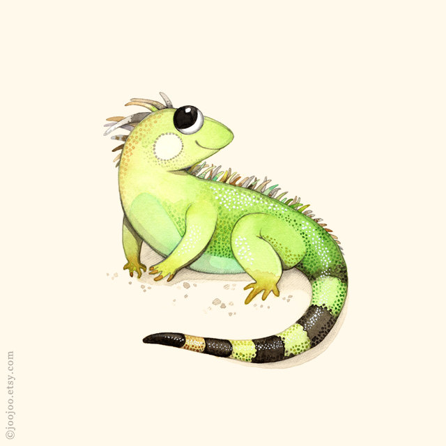 Popular Items For Iguana Print On Etsy
